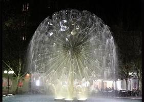 Crystal Sphere water features Fountain